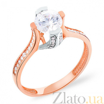 Золотое кольцо с цирконием Астория SUF--152254