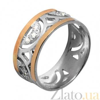Серебряное кольцо с золотыми вставками Анталия BGS--362к