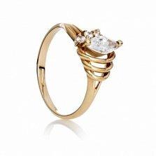 Золотое кольцо с цирконием Оперетта