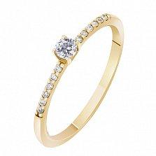 Кольцо в желтом золоте Прима с бриллиантами