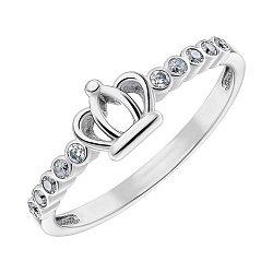 Серебряное кольцо с фианитами 000148733