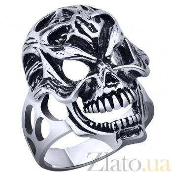 Серебряное кольцо Череп AUR--71502*