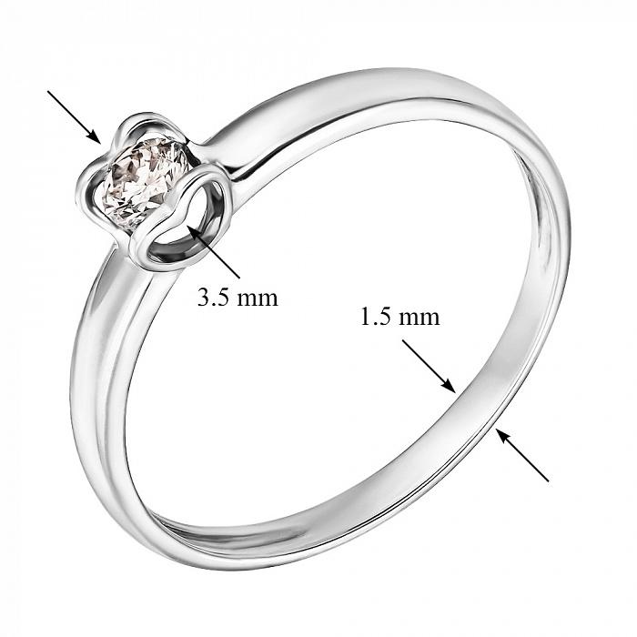 Кольцо из белого золота Серце с бриллиантом R0692/A03В01F02C01K02