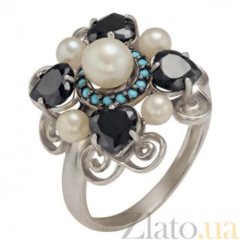 Серебряное кольцо Ночное рандеву Натали TNG--380192С