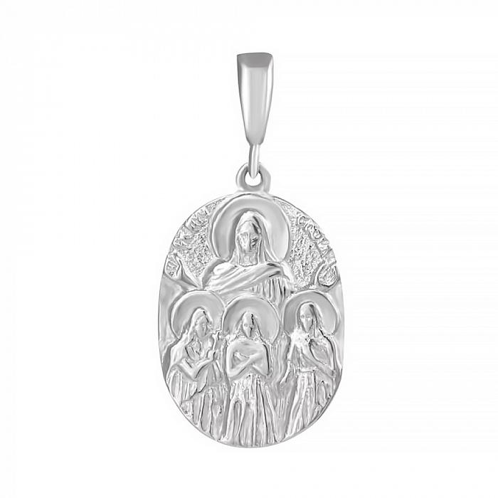 Серебряная ладанка Благословение 000025382 000025382
