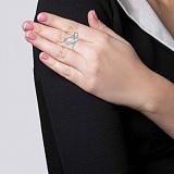 Серебряное кольцо Беатриче с фианитами