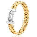 Золотое кольцо с фианитами Инесс