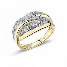 Кольцо из желтого золота Хлоя с бриллиантами