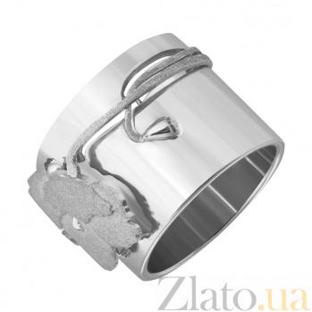 Серебряное широкое кольцо Мак Мак