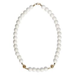 Ожерелье из белого агата Ванильное небо