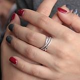Серебряное кольцо Нуар с цирконием