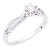 Золотое кольцо с бриллиантами Влюбленный взгляд