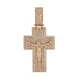 Золотой крестик Свет любви с фианитами