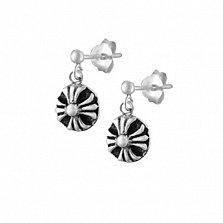 Серебряные сережки Мантра