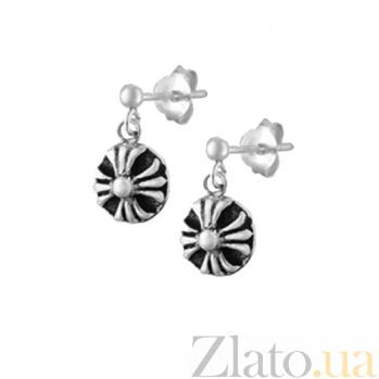 Серебряные сережки Мантра SLX--С5/023