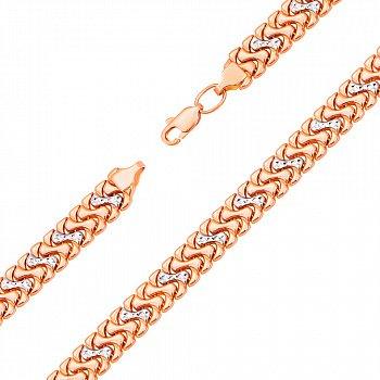 Золотой браслет в комбинированном цвете 000123046