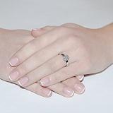 Кольцо из белого золота с бриллиантами Мечта