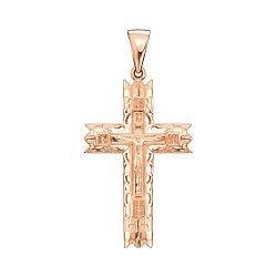 Крестик из красного золота 000139942