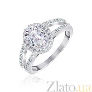 Серебряное кольцо Эрнеста с прозрачными фианитами 000025512
