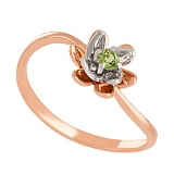 Золотое кольцо с хризолитом Лайл