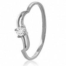 Золотое кольцо с кристаллом Swarovski Валентина