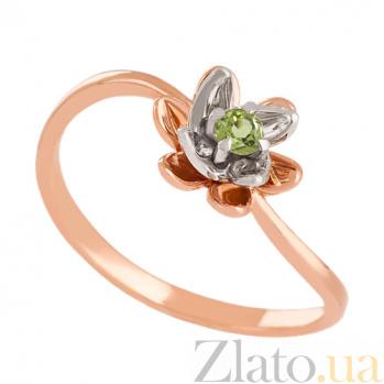 Золотое кольцо с хризолитом Лайл VLN--112-1597-6