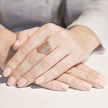 Кольцо из красного золота Сидней с ажурным узором