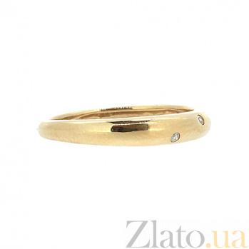 Золотое кольцо в красном цвете с бриллиантами Крис 000021396