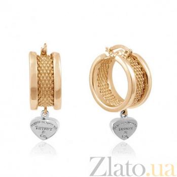 Золотые серьги Тифани EDM--С075