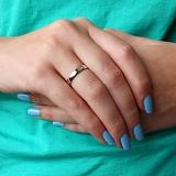 Обручальное кольцо из белого золота Нежность любви