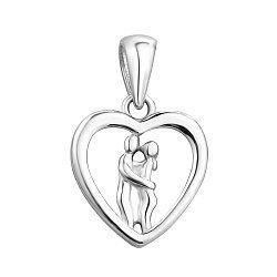 Серебряная подвеска-сердце 000113844