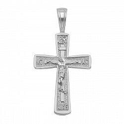 Серебряный православный крестик 000122855