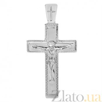 Крестик в белом золоте Силы Небесные