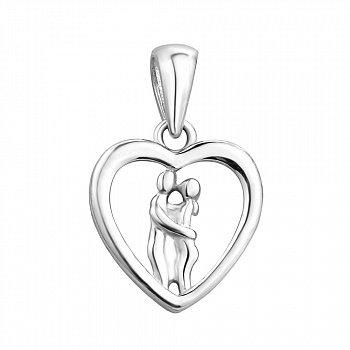 Срібна підвіска-серце 000113844