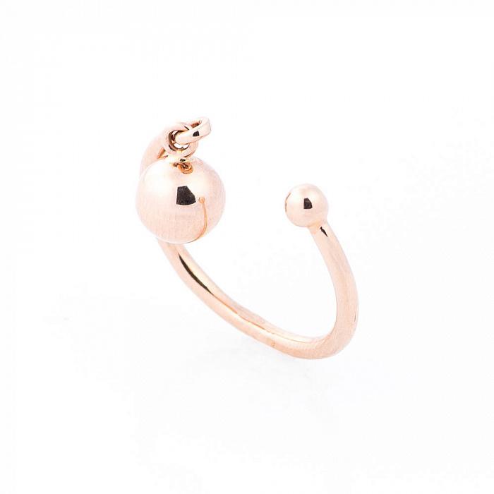 Золотое кольцо Люси с шариком-подвеской и разомкнутой шинкой 000082378