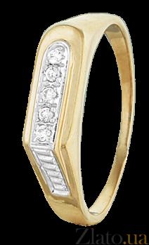 Серебряное кольцо с фианитами Шохрат 000025597