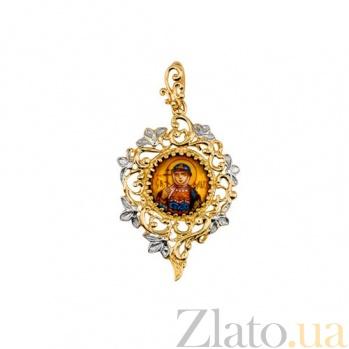 Золотая ладанка Святая Ольга VLT--Э302-2
