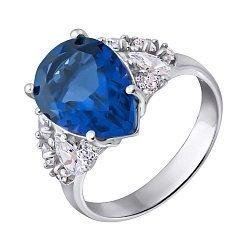 Серебряное кольцо с танзанитом и фианитами 000133132