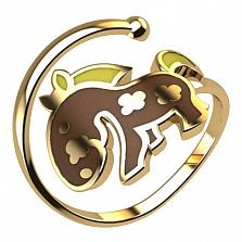 Золотое кольцо Пони с эмалью