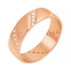 Обручальное кольцо из красного золота 000006401