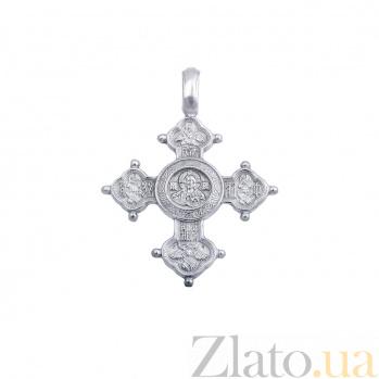 Серебряный мужской крест  AQA--74270