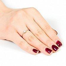 Кольцо из белого золота с бриллиантом Луиза
