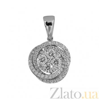 Золотой подвес с бриллиантами Январская роза 000027282