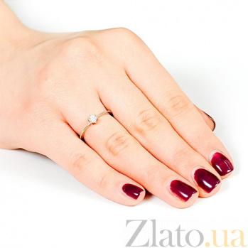 Кольцо из белого золота с бриллиантом Луиза EDM-КД7516/1