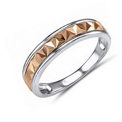 Обручальное кольцо Альбертина из красного и белого золота