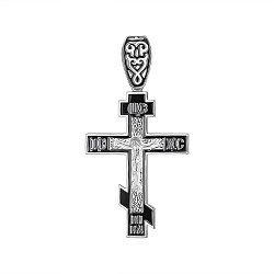 Серебряный крестик с эмалью 000148229