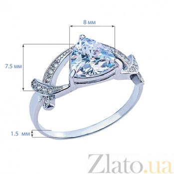 Серебряное кольцо с фианитами Дакота AQA--10121