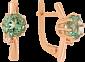 Золотые серьги Валери с синтезированными аметистами и фианитами 000024396