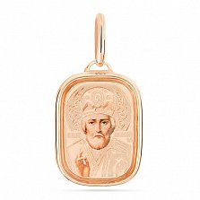 Золотая ладанка с эмалью Святитель Николай