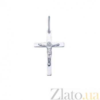 Серебряный крестик Небесный Заступник AQA--3700-б